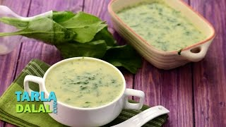 Moong Dal And Spinach Soup (zero Oil Recipe) By Tarla Dalal
