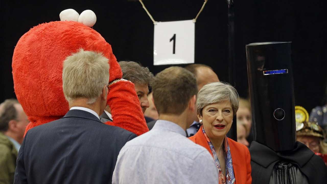 A Man With A Bucket On His Head Ran To Unseat Theresa May. Why? Well ...