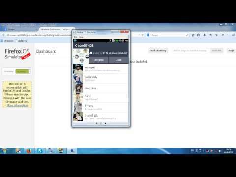 วิธีสมัคร Line ในคอมด้วยบราวเซอร์ Firefox