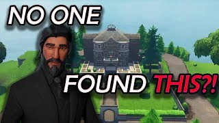 UNDISCOVERED SECRET IN JOHN WICK'S MANSION! (Easter egg) - Fortnite Battle Royale
