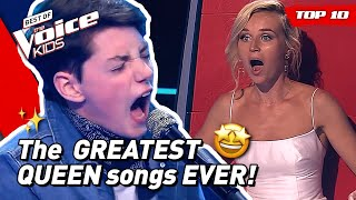 Download lagu TOP 10 | AMAZING QUEEN COVERS in The Voice Kids! 🤩