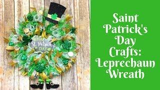 Dollar Tree Saint Patrick's Day Crafts: Leprechaun Wreath