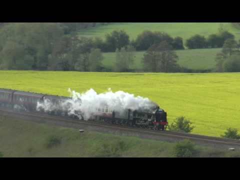46100 `Royal Scot` - The Cathedrals Express @ Newton st Loe 26-04-17