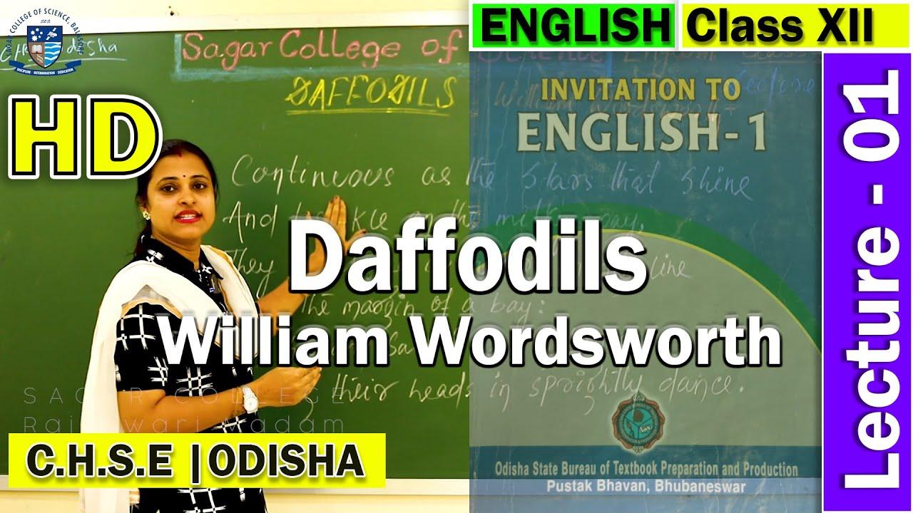 English | Lecture 1 | Daffodils | William Wordsworth | Invitation to English -1 | Online Class