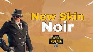 Nuova pelle '' Noir '' gameplay - Fortnite Battle Royale