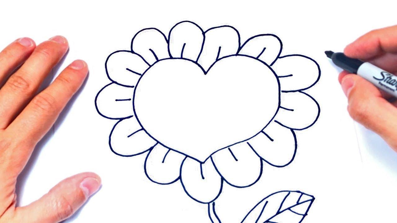 Como Dibujar Un Corazon Con Flores Paso A Paso Dibujosde
