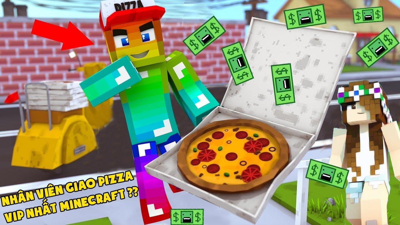 MINI GAME : CUỘC THI GIAO BÁNH PIZZA ** T GAMING THỬ THÁCH NGƯỜI GIAO PIZZA VIP NHẤT MINECRAFT ??