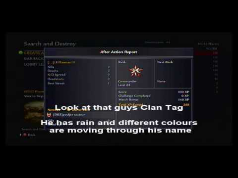Special Clan Tags (rain, Move Etc) - Call Of Duty World At War - Xbox 360 FULLY WORKING