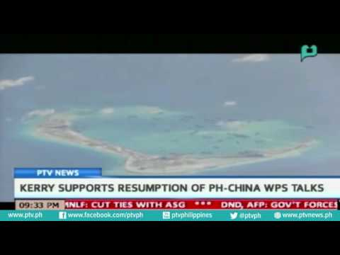[PTVNews] US Sec. of State John Kerry supports resumption of PH-China WPS talks