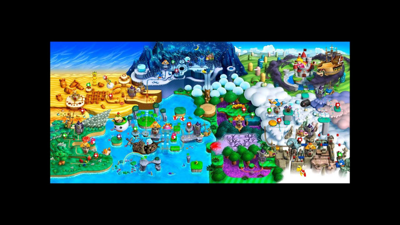 New Super Mario Bros U Complete World Map Youtube
