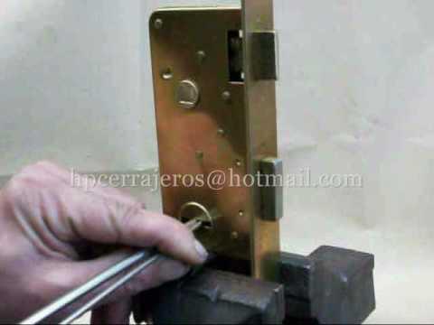 ganzuas doble paleta gorjas  apertura de cerradura para