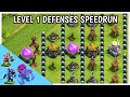 Defenses Base Speedrun On CocUltimate Defense Formation ChallengeTroll TrapCocClash Of Clans