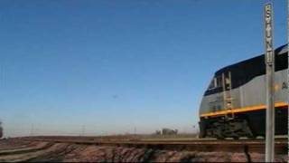 Amtrak 714 & 715 With a BNSF Meet, Hanford, CA 12/23/09