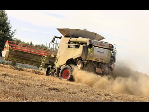 Big Harvest in France / Lexion 780 TT Vario 1050 / Lexion 740 Vario 770 / John Deere c 670 *HD