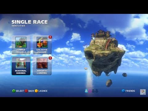 My favorite level from this game! (Sonic & All Stars Racing Transformed Seasonal Shrines Gameplay) |
