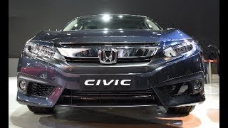 2018 New Honda Civic facelift sedan for India debuts – Launch with diesel engine confirmed