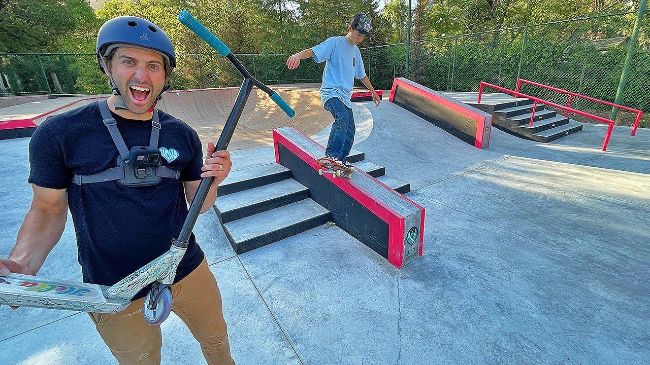 Riding $1,000,000 Backyard Skatepark!