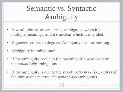 Vagueness & Ambiguity