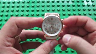 Unboxing Geneva Quartz Watch Bright Color Brim