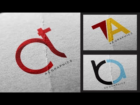 Logo Design Tutorial - TA - AT Logo Design | in Coreldraw x7 thumbnail