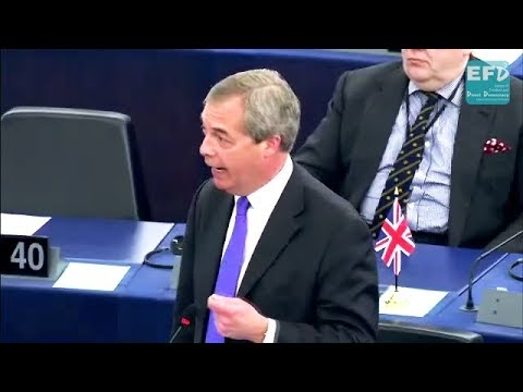 Stand strong against the unelected EU bullies, Mrs May - Nigel Farage MEP