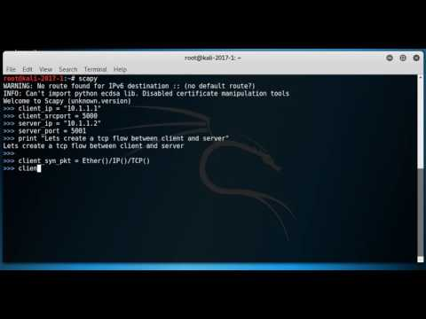 Create complete tcp flow of packets using scapy - part1