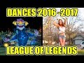 DANCE REFERENCES 2017 - 2016 (IVERN, KLED, TALIYAH, AURELION SOL, JHIN, ILLAOI) - League of Legends