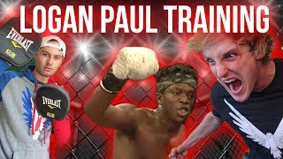 LOGAN PAUL TRAINING FOR KSI (behind the scenes)
