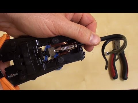 How to connect a bnc connector to RG59 Siamese coax cable
