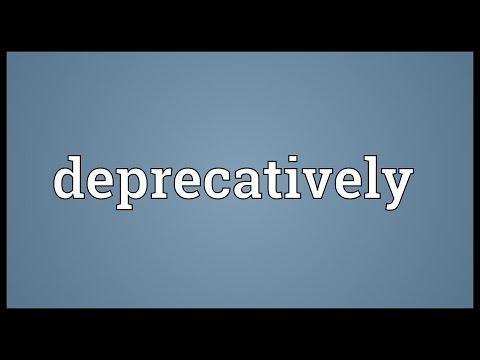 Header of deprecatively