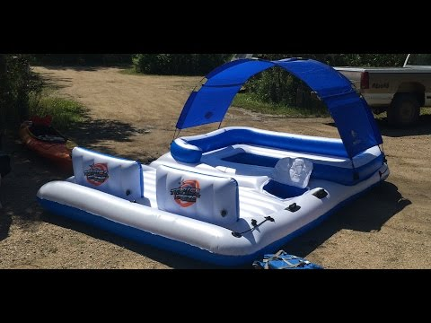 Bestway CoolerZ Tropical Breeze 6-Person Floating Island (Unboxing & Float)