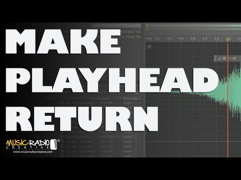 Make Playhead Return To Original Position in Adobe Audition