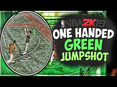 *NEW* GREEN BEST JUMPSHOT IN NBA 2K19 FOR EVERY ARCHETYPE AFTER PATCH 8!! ONE HANDED JUMPSHOT!