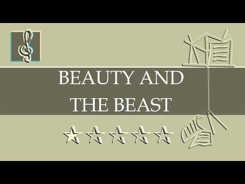 Video Sheet Music Bb - Beauty And The Beast - Disney (Guitar chords)