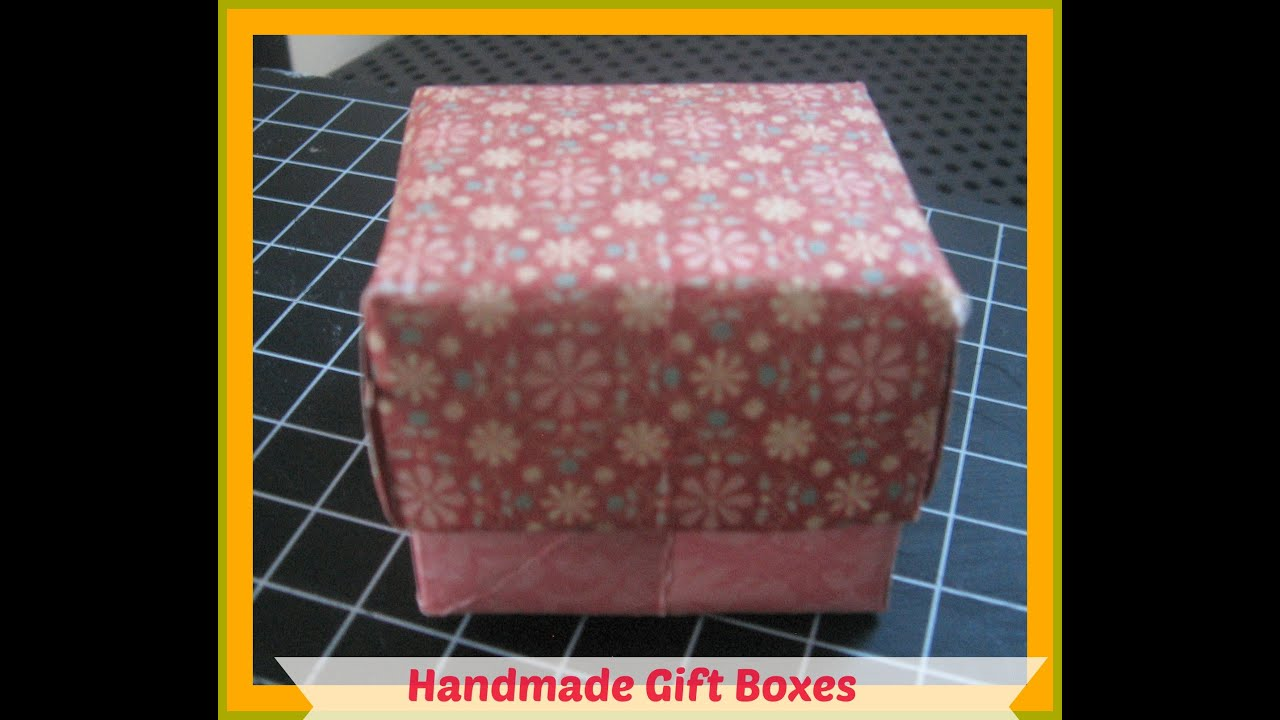 How to scrapbook a box - How To Make Your Own Gift Box With Lid How To Make A Gift Box Out Of Scrapbook Paper