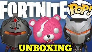 UNBOXING FORTNITE FUNKO POP VINYL FIGURES REVIEW - OMEGA CUDDLE TEAM LEADER BLACK KNIGHT