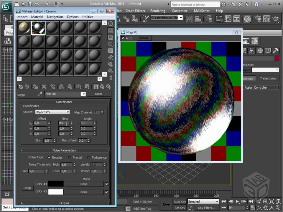 Video corso autodesk 3ds max 2011 creazione di materiali cromo e allumino youtube - Materiale specchio 3ds max ...