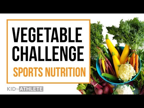 Sports nutrition training for young athletes - training with vegetables