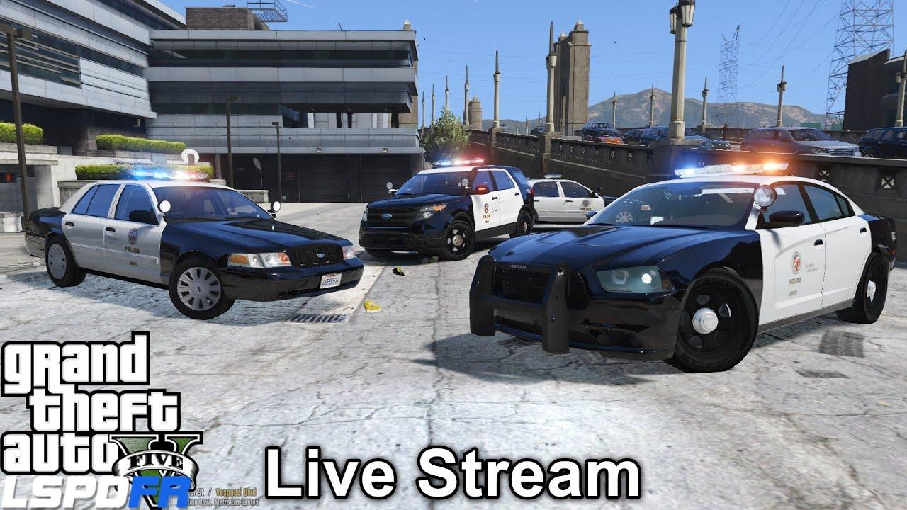 Police Cop Car Live Wallpaper Gta 5 Lspdfr Police Mod 214 Live Stream Lapd Patrol