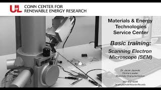 MET Basic Training: Scanning Electron Microscope (SEM)