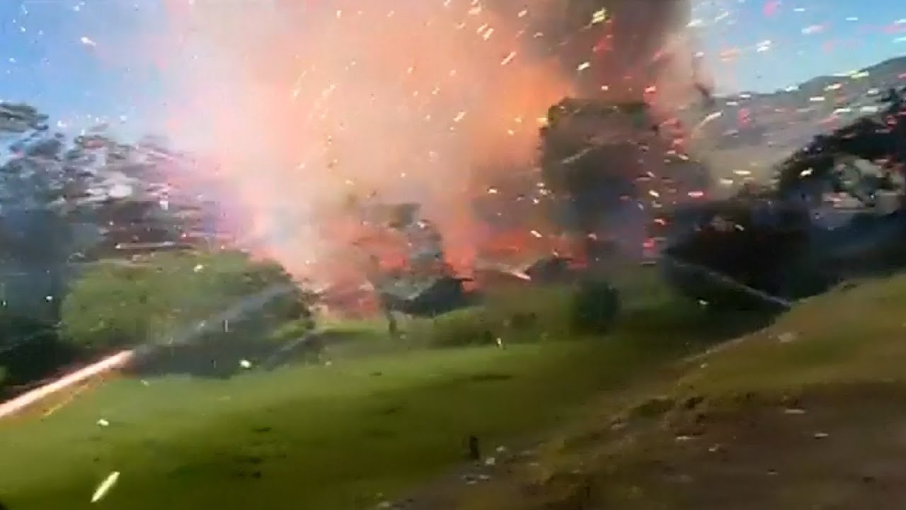 Download Colombia fireworks factory explosion caught in dramatic video