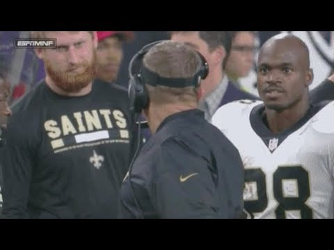 Adrian Peterson Hits Sean Payton with a DEATH STARE After Yelling at Him