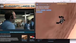 NASA TV Capture of MSL Curiosity Rover Landing on Mars