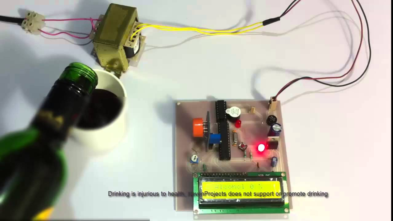 Alcohol Sensing Display With Alarm Project Youtube Heart Rate Monitor Circuit Homemade Projects