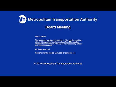 MTA Board - NYCT/Bus Committee Meeting - 05/23/2016