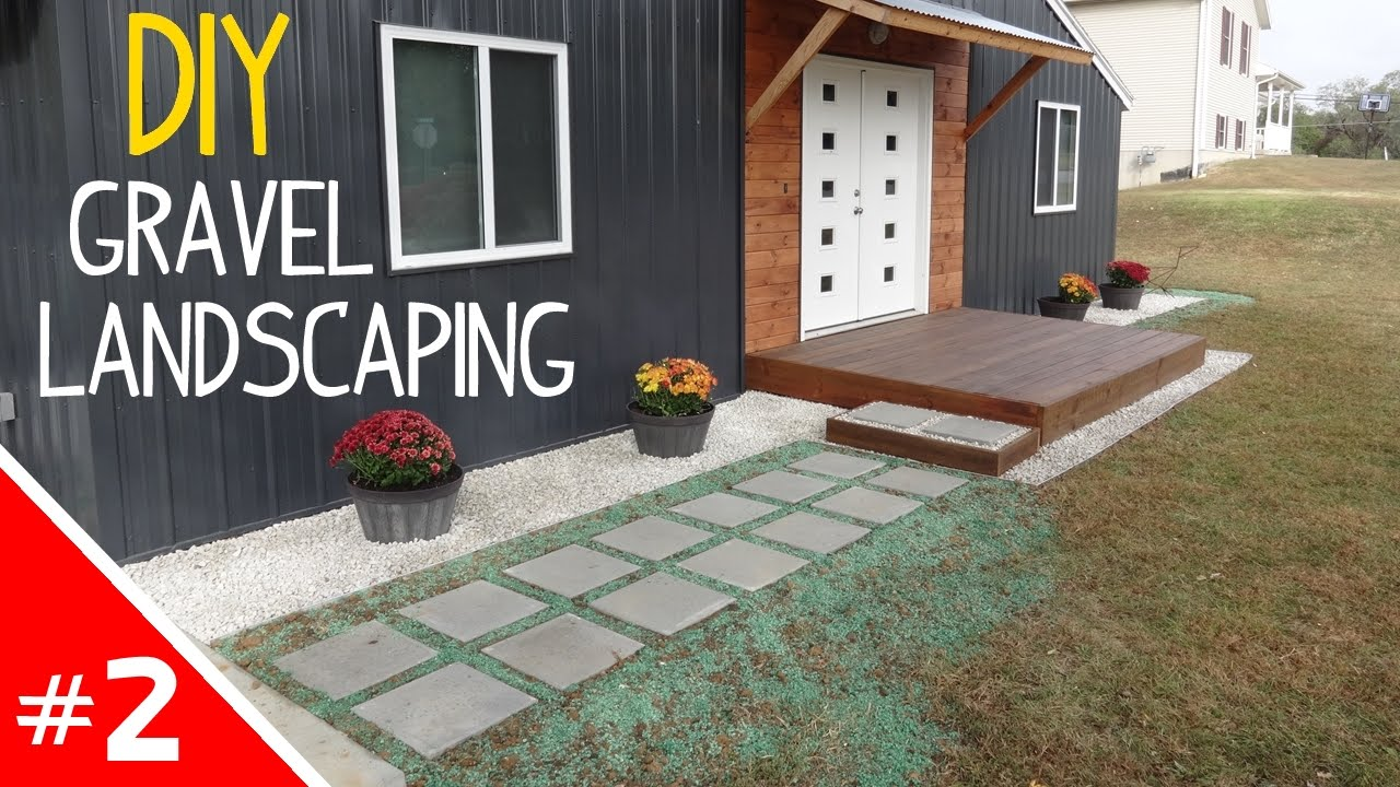 DIY Clean 'n Simple Gravel Landscaping - Part 2 of 2 - YouTube