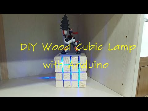 DIY Wood Cubic Lamp by Arduino
