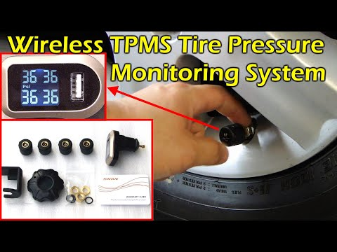 Wireless TPMS Tire Pressure Monitoring System High / Low / Temp Alert