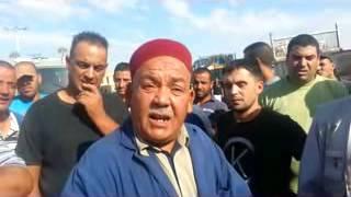 غلق الطريق الدولي تبسة ،تونس (النقل العمومي للبضائع)