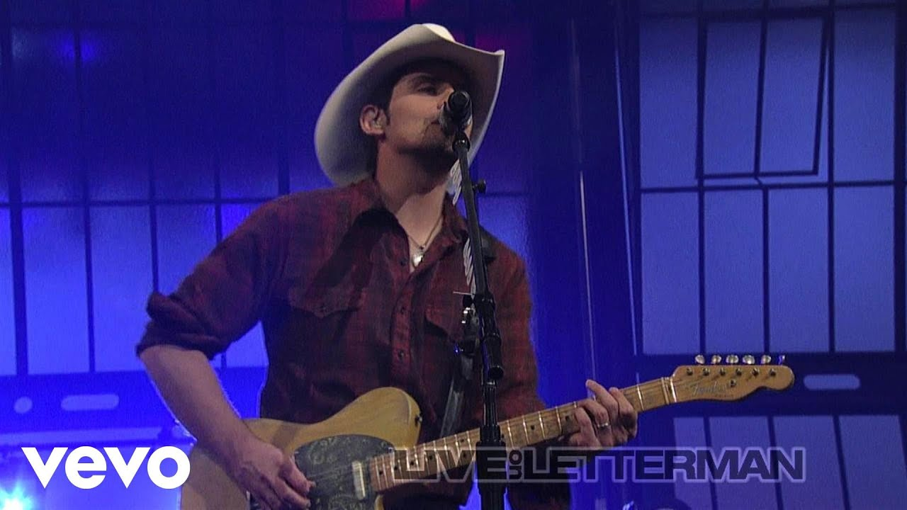 Brad Paisley - Alcohol (Live on Letterman)